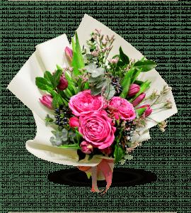 Романтический букет с тюльпанами – Інтернет-магазин квітів STUDIO Flores