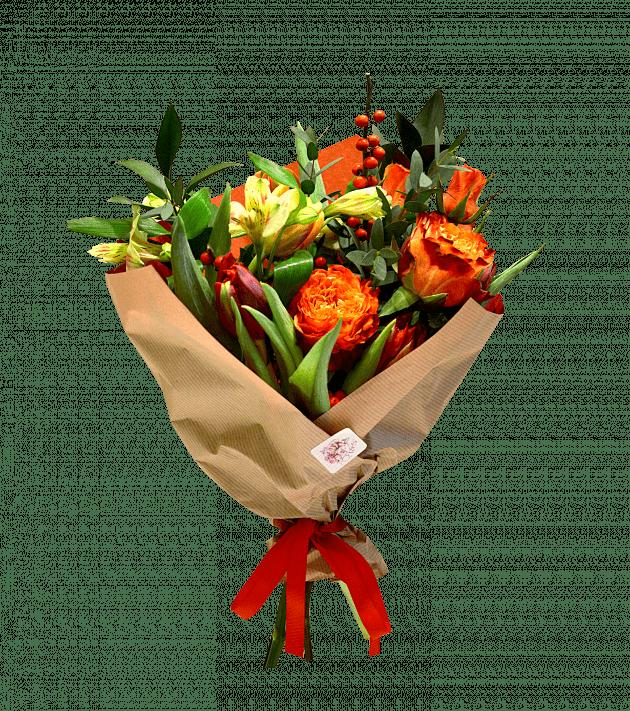 Полум'яне серце – Інтернет-магазин квітів STUDIO Flores