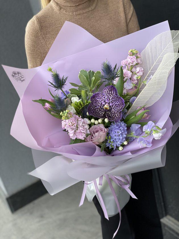 Букет Синее кружево – Интернет-магазин цветов STUDIO Flores