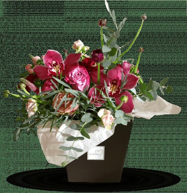 Коробочка с цимбидумом – Интернет-магазин цветов STUDIO Flores