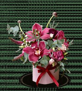 Букет Відтінки марсалу – Интернет-магазин цветов STUDIO Flores