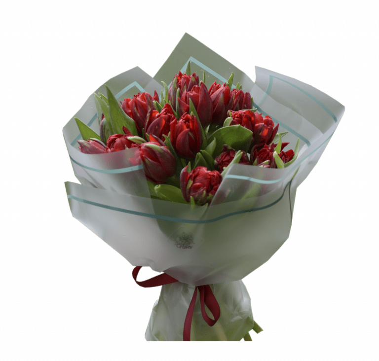 Букет з тюльпанами – Інтернет-магазин квітів STUDIO Flores