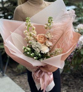 Букет Кофе со сливками – Інтернет-магазин квітів STUDIO Flores