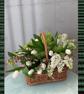 Корзина с цветами – Интернет-магазин цветов STUDIO Flores