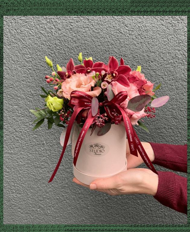 Букет Оттенки марсала – Интернет-магазин цветов STUDIO Flores