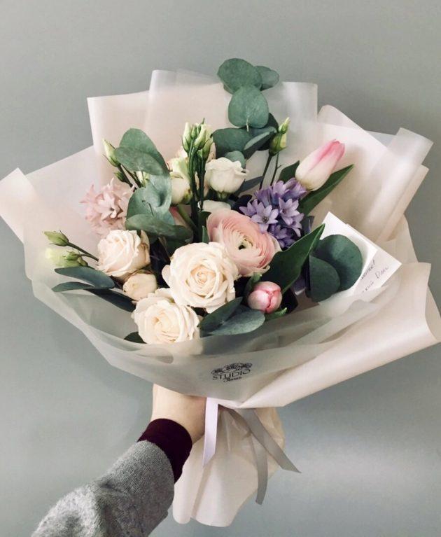Букет Розовый шелк – Интернет-магазин цветов STUDIO Flores