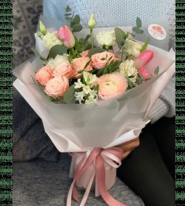 Букет Рожевий шовк – Интернет-магазин цветов STUDIO Flores