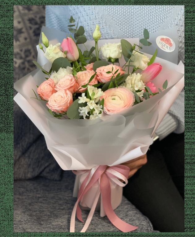 Букет Рожевий шовк – Інтернет-магазин квітів STUDIO Flores