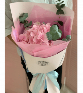 Compliment with hydrangea 1 – Flower shop STUDIO Flores