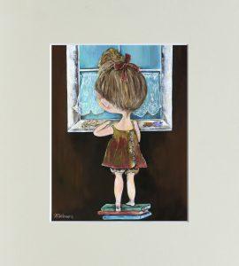 "Картина ""Дівчинка"" – Flower shop STUDIO Flores"