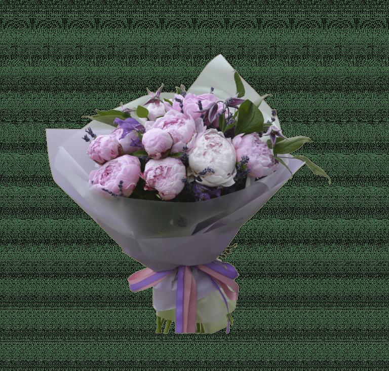 Букет з півоніями – Інтернет-магазин квітів STUDIO Flores