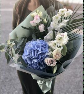 Букет Голубое облачко – Flower shop STUDIO Flores