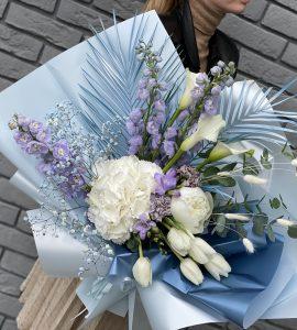 Букет Голубое облако – Интернет-магазин цветов STUDIO Flores