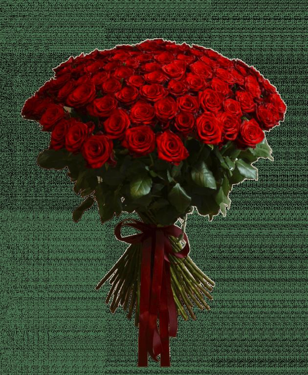 Букет 101 червона троянда – Інтернет-магазин квітів STUDIO Flores