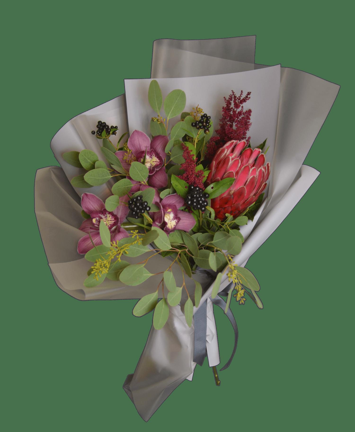 Доставка цветов мужской букет днем