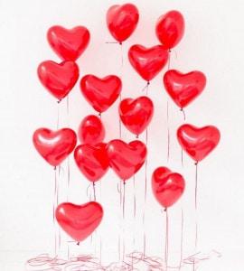 Шар в форме сердца – Flower shop STUDIO Flores