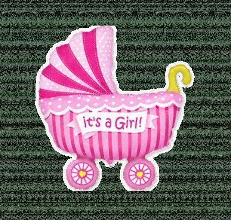 Коляска дитяча рожева – Інтернет-магазин квітів STUDIO Flores