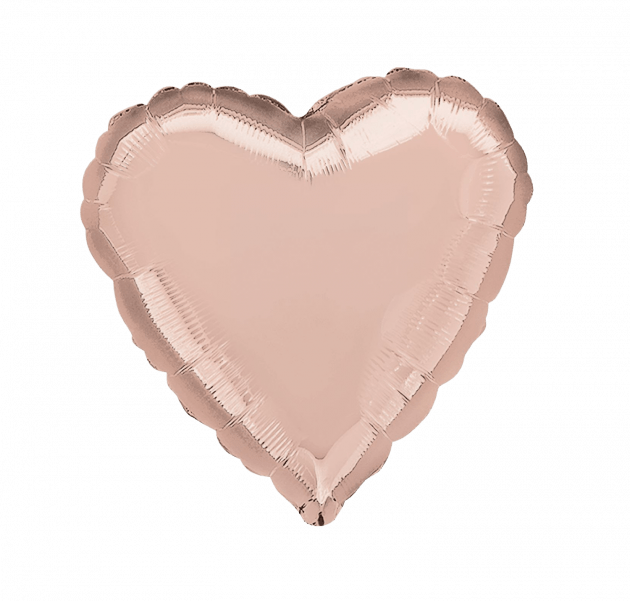 Сердце розовое золото – Интернет-магазин цветов STUDIO Flores