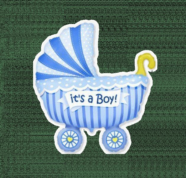 Коляска детская голубая – Интернет-магазин цветов STUDIO Flores