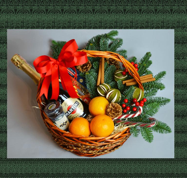 Корзина Новогодняя – Интернет-магазин цветов STUDIO Flores