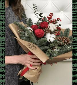 Букет Щасливе Різдво – Інтернет-магазин квітів STUDIO Flores