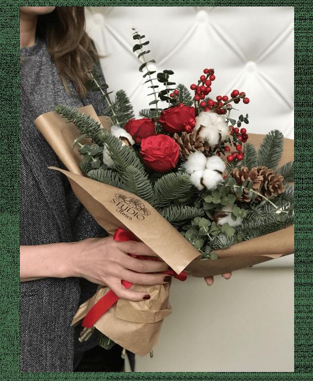Букет Счастливое Рождество – Интернет-магазин цветов STUDIO Flores