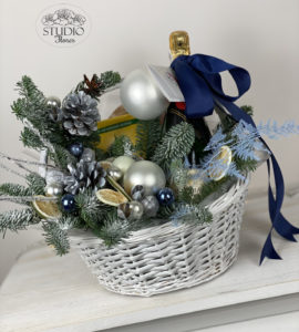 New Year's basket 2 – Flower shop STUDIO Flores