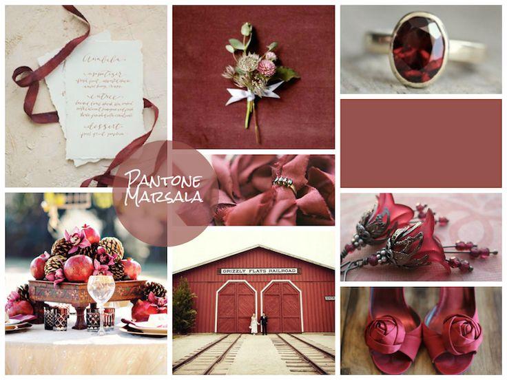 Свадьба в цвете марсала – STUDIO Flores