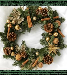 Венок Рождественская звезда – Flower shop STUDIO Flores