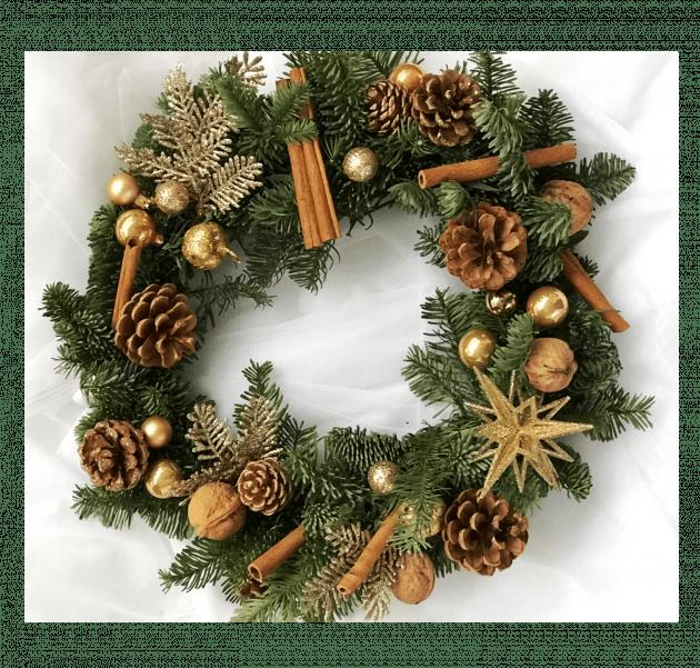 Вінок Різдвяна зірка – Інтернет-магазин квітів STUDIO Flores