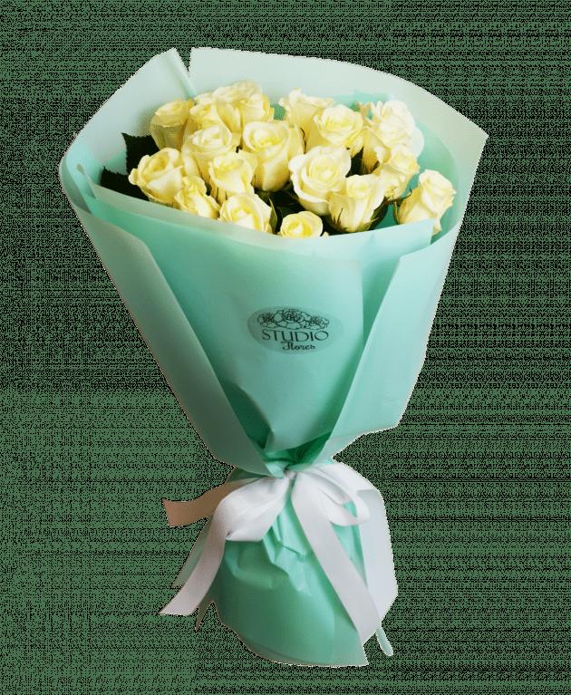 19 белых роз – Интернет-магазин цветов STUDIO Flores