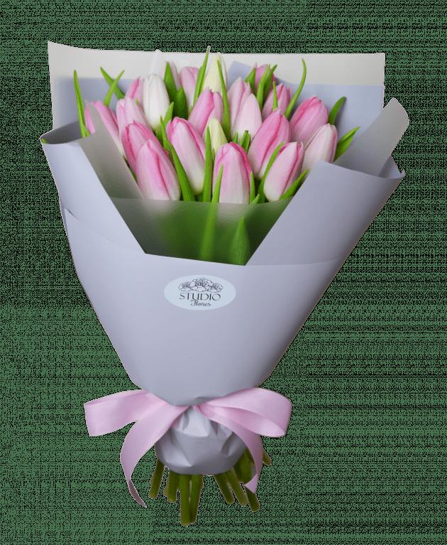 Букет 21 тюльпан – Интернет-магазин цветов STUDIO Flores