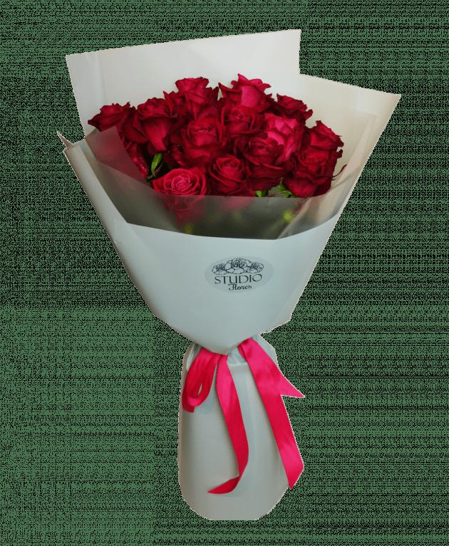 Букет 15 роз Шангри Ла – Интернет-магазин цветов STUDIO Flores