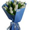 Букет 15 белых тюльпанов – Интернет-магазин цветов STUDIO Flores