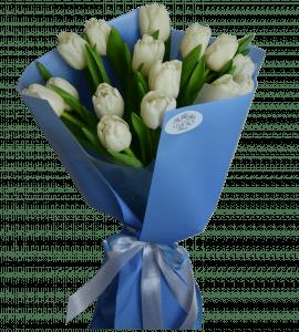 15 белых тюльпанов – Flower shop STUDIO Flores