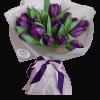 15 фіолетових тюльпанів – Інтернет-магазин квітів STUDIO Flores