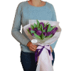 15 фіолетових тюльпанів – зображення 2 – Інтернет-магазин квітів STUDIO Flores