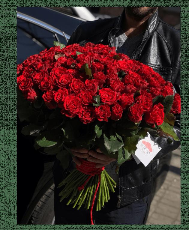 Букет 51 и 101 роза Эль Торо – Интернет-магазин цветов STUDIO Flores