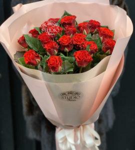 Букет 19 роз Эль Торро – Интернет-магазин цветов STUDIO Flores