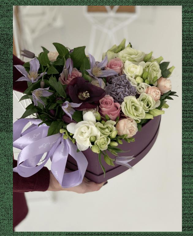 Букет Любящее сердце – Интернет-магазин цветов STUDIO Flores