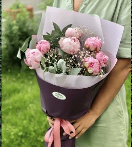Букет пионов – Интернет-магазин цветов STUDIO Flores
