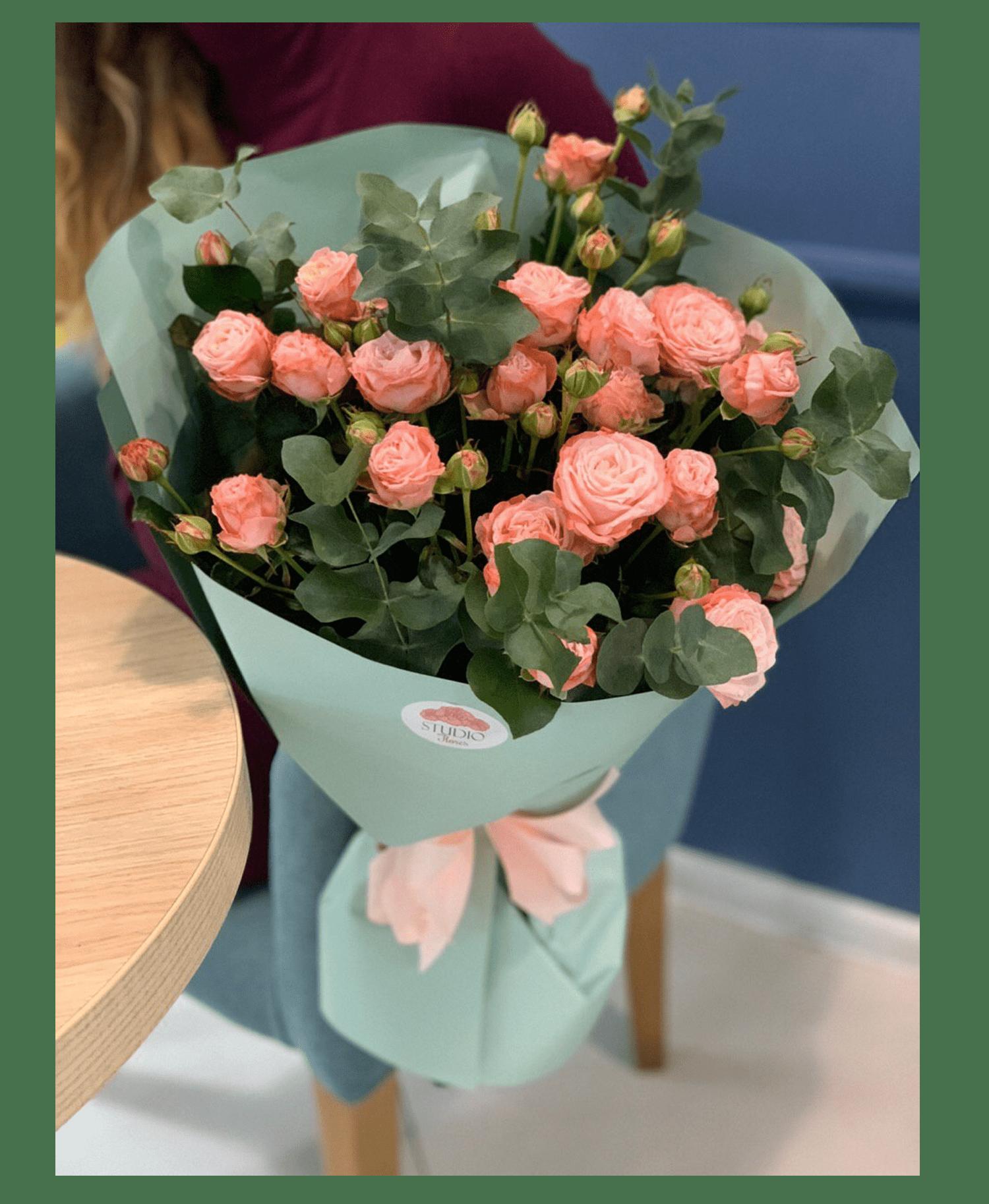 Букет Розовый этюд