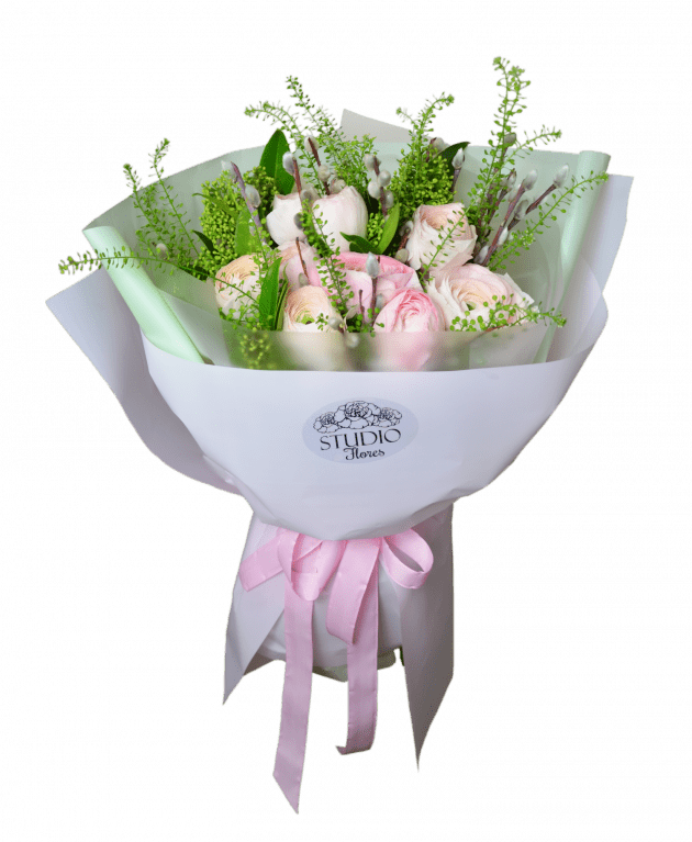 Букет з ранункулюсами – Інтернет-магазин квітів STUDIO Flores