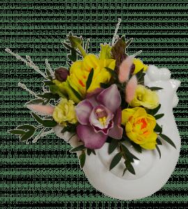 Букет Пасхальная курочка – Интернет-магазин цветов STUDIO Flores