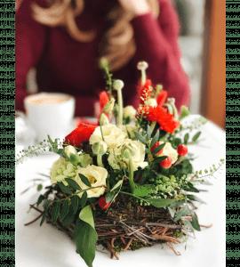 Букет Гнездо Жар Птицы – Flower shop STUDIO Flores