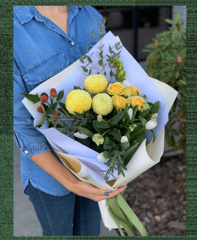 Букет Лимончелло – Интернет-магазин цветов STUDIO Flores