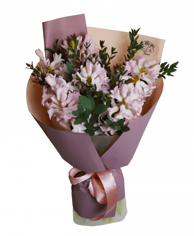Комплимент с гиацинтами – Интернет-магазин цветов STUDIO Flores