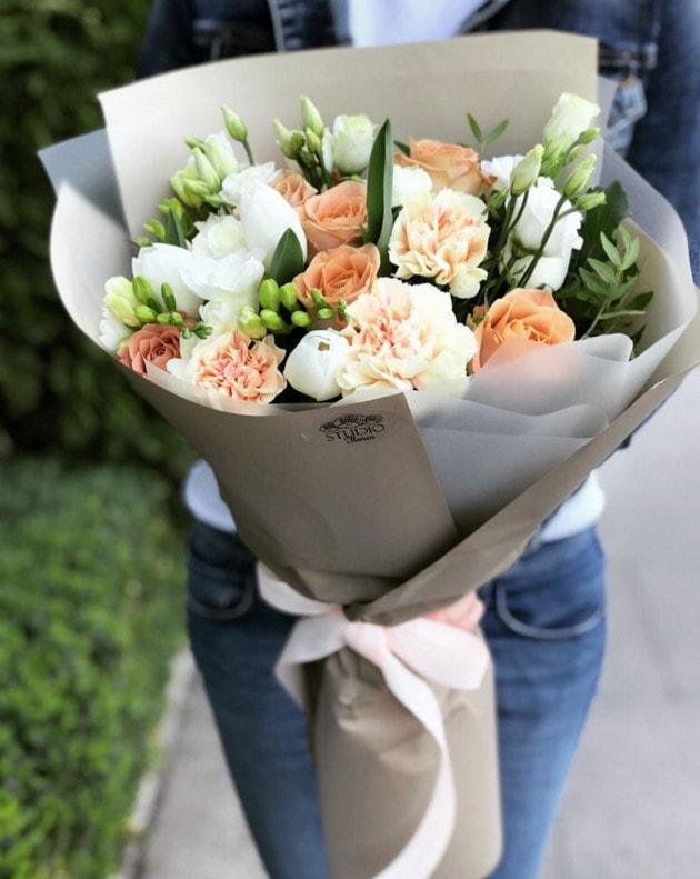 Букет Латте – Интернет-магазин цветов STUDIO Flores