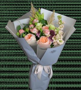 Букет Персиковый микс – Интернет-магазин цветов STUDIO Flores
