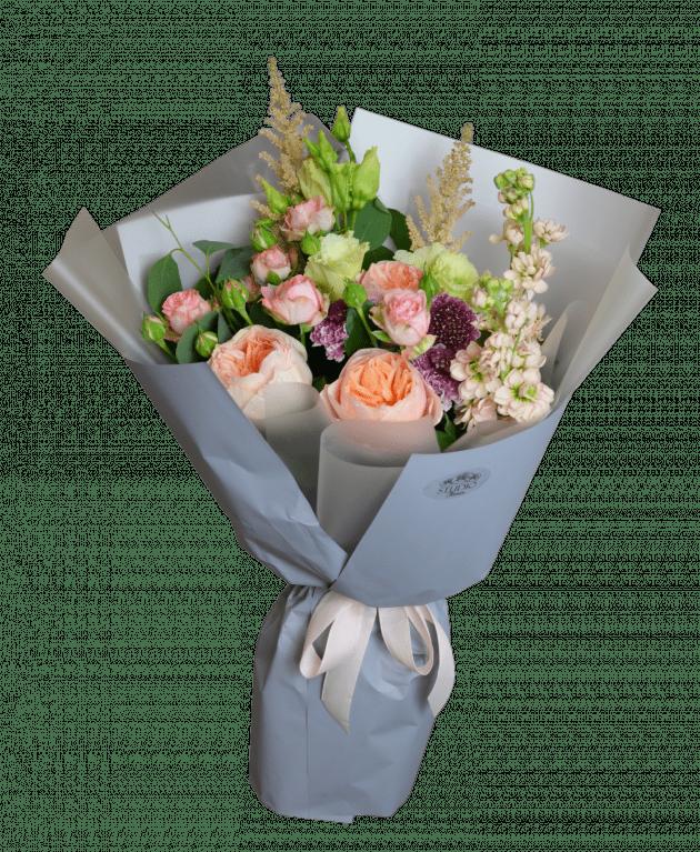 Персиковый микс – Интернет-магазин цветов STUDIO Flores